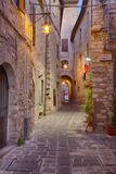 Evening Light Along a Back Alley of Assisi