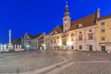 Slovenia  Maribor  Maribor Town Hall Square at Dawn