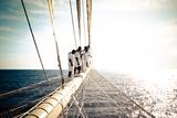 Star Clipper Sailing Cruise Ship  Deshaies  French Caribbean  France