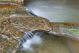 Close Up of Potholes  at Fall Creek Gorge  Warren County  Indiana