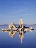 California  Sierra Nevada  Tufa Formations Reflecting in Mono Lake