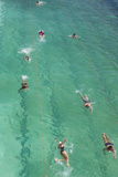 Australia  Sydney  Bondi Beach  Beach Pool  Elevated View  Morning