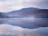 New York  Adirondack Mts  Algonquin Peak and Fall by Heart Lake