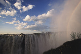Africa  Zambia Side  View of Victoria Falls Rainbow