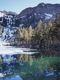 California  Sierra Nevada  Inyo Nf  Mammoth Lakes  Frozen Emerald Lake
