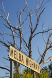 Australia  Victoria  Dixons Creek  Sign for the Melba Highway