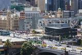 Australia  Victoria  Melbourne  Federation Square  Elevated View