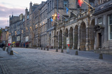 Deserted Street Along the Royal Mile  Edinburgh  Lothian  Scotland
