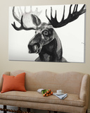 Watercolor Moose Toile Murale Géante par Ben Gordon