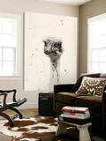 Watercolor Ostrich 2 Toile Murale Géante par Ben Gordon