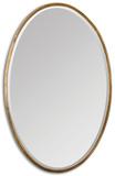 Herleva Gold Oval Mirror