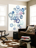 Watercolor Hexagons A