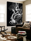 Black Smoke Abstract Toile Murale Géante par GI ArtLab
