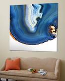 Cobalt Blue Agate A Toile Murale Géante par GI ArtLab