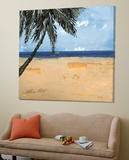 Peaceful Beach 1 Toile Murale Géante par David Dauncey