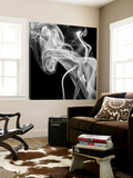 Black Smoke Abstract Square Toile Murale Géante par GI ArtLab