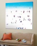 Whitewashed Beach B Toile Murale Géante par THE Studio