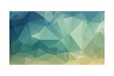Colorful Polygon Reproduction d'art par Tontectonix