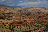 A High Angle View of Rock Formations in Grand Escalante National Monument  Utah