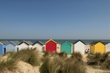 Traditional Beach Huts in the Sand Dunes at Southwold  Suffolk  Uk David Potter