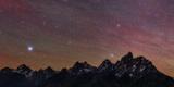 The Night Sky over the Grand Teton Mountains Papier Photo par Babak Tafreshi