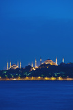 Sultanahmet or Blue Mosque and Hagia Sofia at Dusk