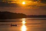 A Fisherman at Sunrise on the Occoquan River  Looking Toward Mason Neck