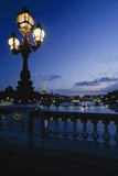 Looking from the Pont Alexandre Iii Down the Seine to the Eiffel Tower
