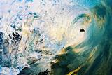 Hawaii  Maui  Makena  Beautiful Blue Wave Breaking at the Beach