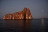 Sleeping Lion Rock Off San Cristobal in the Galapagos at Twilight