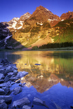 Maroon Bells and Crater Lake  White River National Forest  Colorado