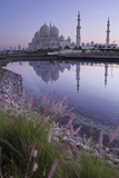 Sheikh Zayed Grand Mosque at Sunrise; Abu Dhabi  United Arab Emirates