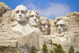 Low Angle View of the Presidents on Mount Rushmore