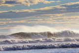Winter Waves Break Off the Coast of Maine