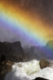 A Brilliant Rainbow Formed Below the Lower Yosemite Falls
