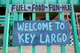 A Colorful Sign Welcoming People to Key Largo