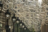 Bicycle Parts Turned into Hanging Art