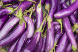 Eggplant for Sale in a Street Market