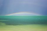 A Brilliant Double Rainbow over the Atlantic Ocean in the Florida Keys