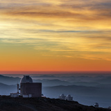 Sunset over the La Silla Observatory and Inversion Layers