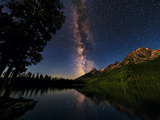 The Milky Way Shines over the Teton Range