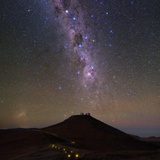 The Southern Milky Way and the Southern Cross Above the Cerro Paranal Observatory in Chile