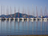 Yachts Docked in the Harbor; Gocek  Mugla Province  Turkey