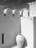 Pottery Urn Inside Crenellated Walls of Nakhal Fort; Nakhal  Hajar  Oman