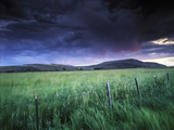 Spring Storm over a Field  Gunnison  Colorado