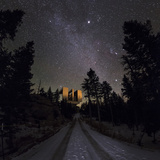 Winter Stars  Including Jupiter  and the Milky Way over the Large Binocular Telescope