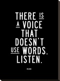 There is a Voice That Doesnt Use Words