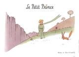 Petit Prince et son Renard Reproduction d'art par Antoine De Saint Exupery