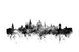 Oxford England Skyline Giclée premium par Michael Tompsett