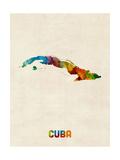 Cuba Watercolor Map